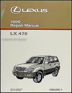 1999 Lexus LX 470 Diagnosis Repair Manual Volume 1 LX470 Shop Diagnostic Codes