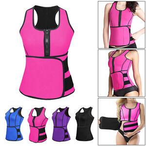 Womens Waist Trainer Vest Gym Workout Slimming Adjustable Sweat Belt Body Shaper