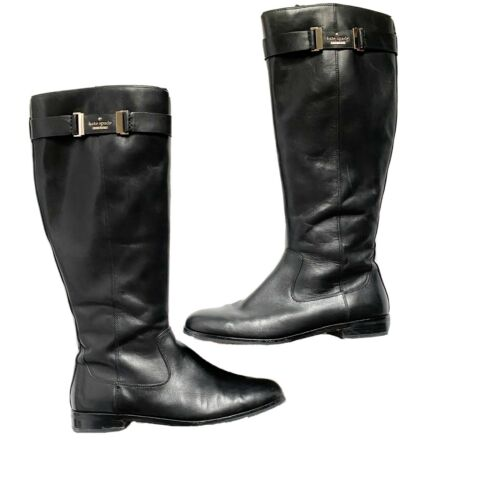 Kate Spade Womens Black Tall Riding Boots Shoes 10