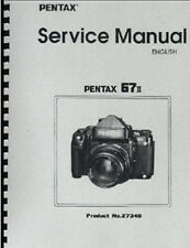 Pentax 67II Camera Repair Manual, Includes AE Prism Finder