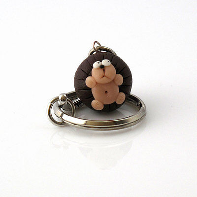 keyring hedgehog cute handmade xmas gift Father's Day gift