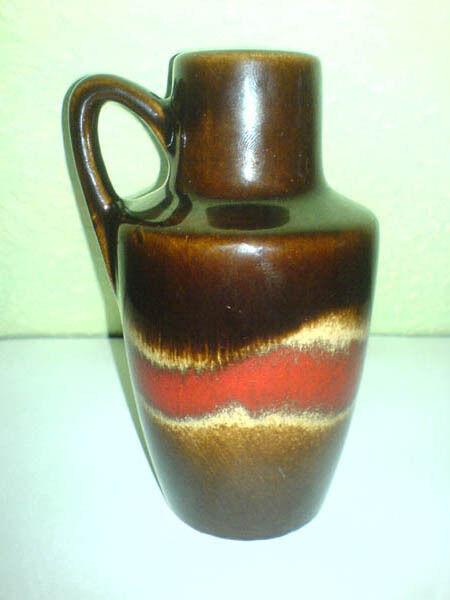 Vase Krug Scheurich 405-13,5 Fabiola WGP 60s 405 Shape H: 13,5 cm GREAT * LOOK *