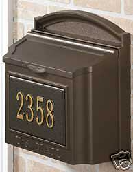 Weißhall Products Mailbox Over-Größed Wall Door Address Plaque