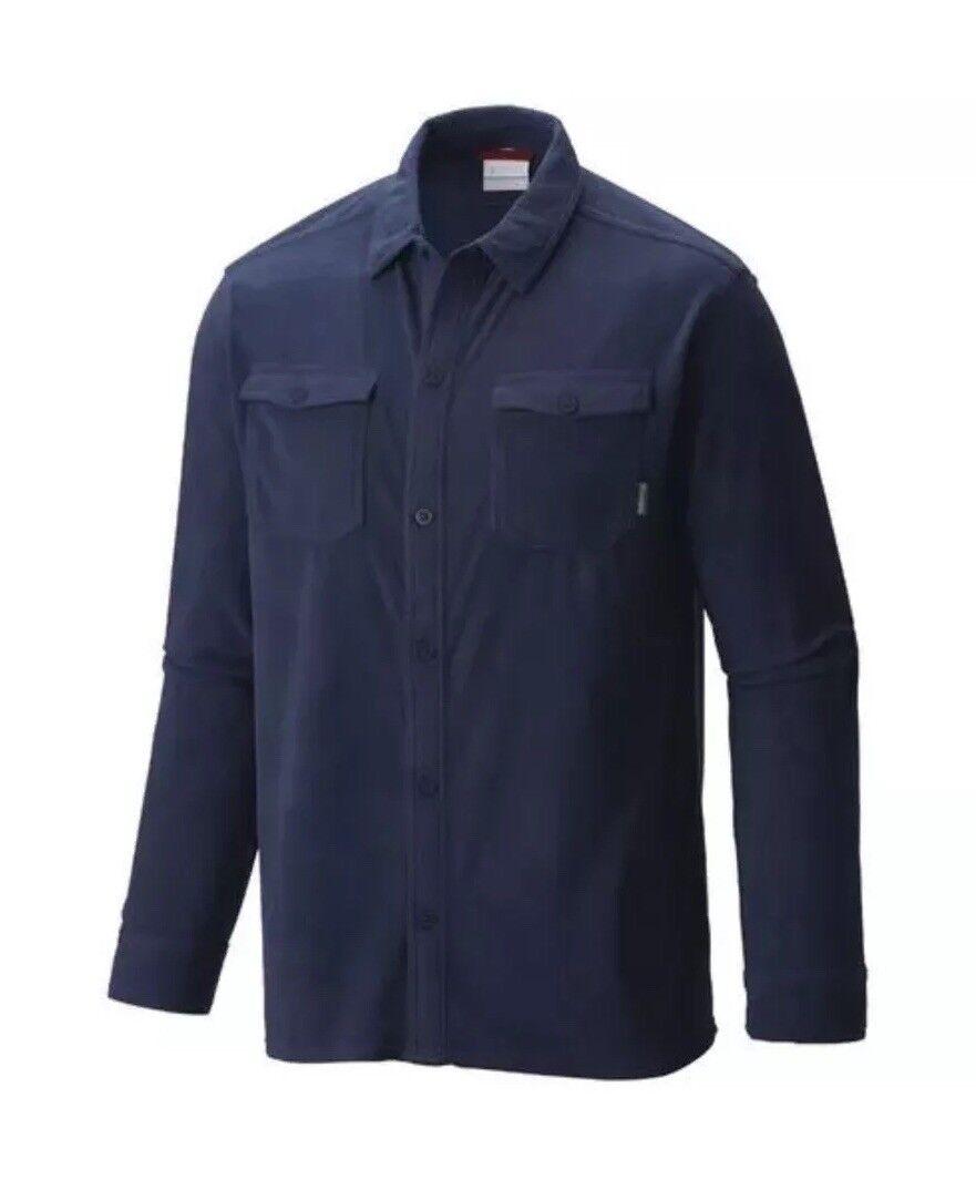 Columbia Forest Park Big & Tall bluee Fleece Overshirt Microfleece Mens 2XT NWT