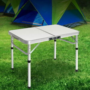 Portable Folding Table Heavy Duty Aluminum Camping Party Picnic BBQ Garden Desk