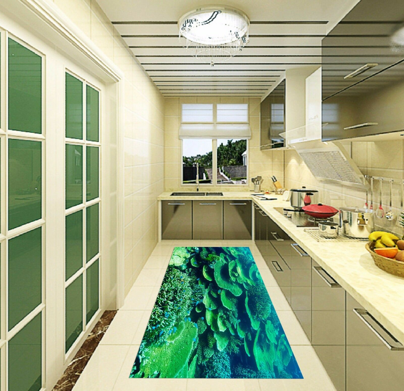 3D Grün Reef 50 Kitchen Mat Floor Murals Wall Print Wall AJ WALLPAPER AU Kyra