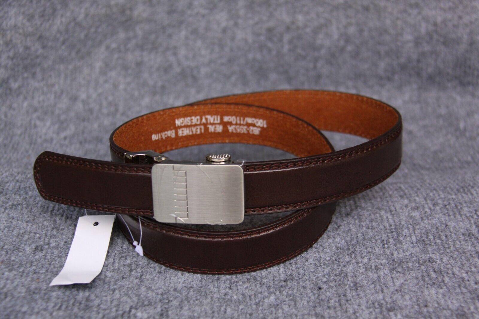 Classic Belt Brown Size 110 einschiebe schliese Silver Colors 16
