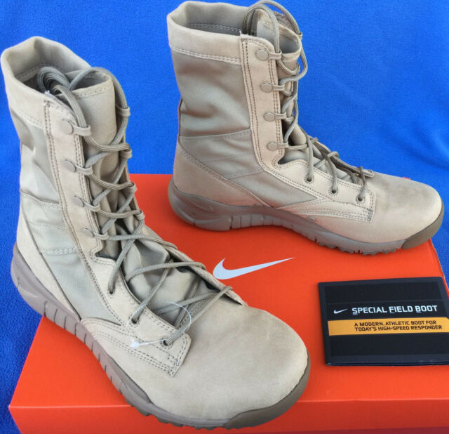18d8bb21458 Nike SFB Special Field Boots 329798-221 SF Tactical Army Desert Tan Men's 5  new