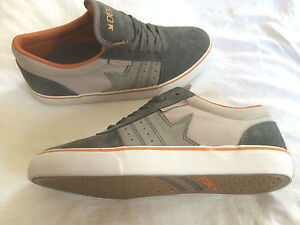 Dekline-Archer-charcoal-grey-orange-Skateboard-Shoes-Schuhe-suede-style-cool-new