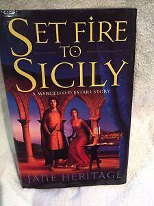 Signed-1st-Ed-Set-Fire-to-Sicily-A-Marcello-D-039-Estari-Novel-by-Jane-Heritage