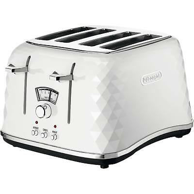 Delonghi CTJ4003.W Brillante 4 Slice Electronic Control Toaster in White