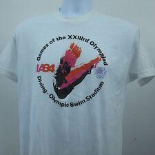 Vintage 1984 Olympics DIVING Swim Stadium Triplicate Image T-Shirt Size Large
