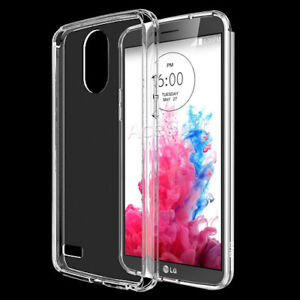 huge discount 9ee25 fcb79 Details about Clear Crystal TPU Silicone Rubber Protective Case Cover for  LG Stylo 3 LTE L84VL