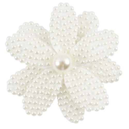 Weiße Rhinestone Haar Klipp Bogen Knoten Mädchen Nette Perlen Hairwear Zusätze