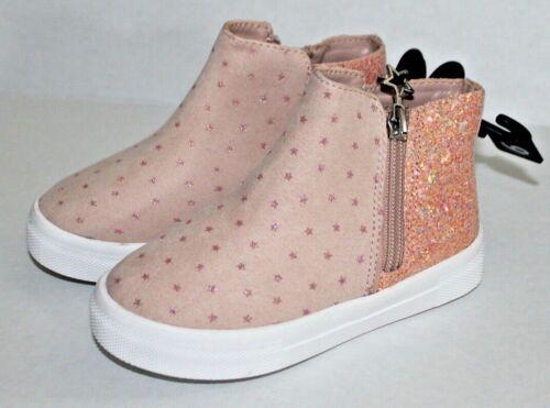 Wonder Nation Toddler Girls Pink Ankle Boots Size 7 Blush High Top Zipper