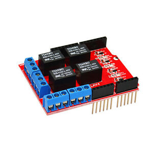 Keyes-4-Channel-5V-Relay-Module-Expansion-Board-Shield-Red-for-Arduino-EU