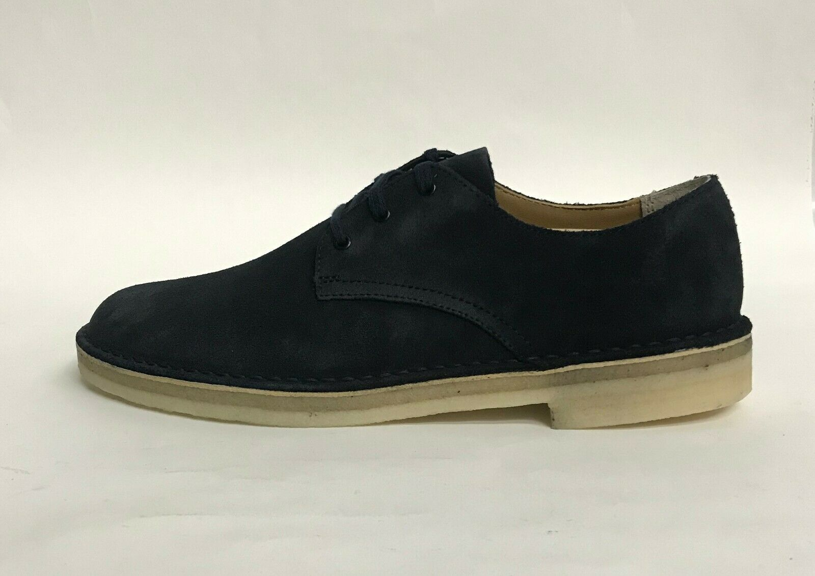 NIB MENS SIZE 10 CLARKS DESERT CROSBY LEATHER SHOES MIDNIGHT NAVY 33709