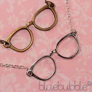 FUNKY-VINTAGE-GEEK-GLASSES-NECKLACE-CUTE-NERD-CHIC-KITSCH-EMO-FASHION-COOL-80s