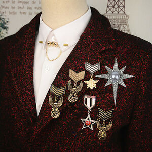 s itm skull mens accessories brooch chain men rhinestone lapel cross pin antique gold