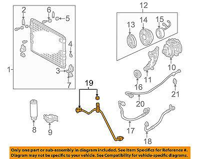 TOYOTA OEM Tundra A//C AC Condenser//Compressor//Line-Front Ac Hose 887160C020
