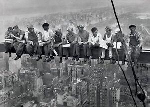 Dejeuner-sur-un-Gratte-Ciel-Hommes-sur-Poutre-Affiche-New-York-City-91-50x61cm