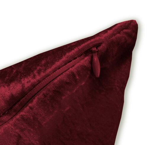 Mv25a Dark Red Diamond Crushed Velvet Cushion Cover//Pillow Case Custom Size