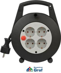 Brennenstuhl-VARIO-LINE-Kabelbox-4-fach-Mini-Kabeltrommel-schwarz-grau-5m-10m