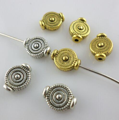 30//90pcs Tibetan Gold//Silver Tree Rings Spacer Beads Bracelet Beading Making