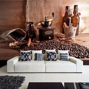 tapete vlies fototapete f r k che kaffee aroma bohnenkaffee zimtstangen coffee ebay. Black Bedroom Furniture Sets. Home Design Ideas