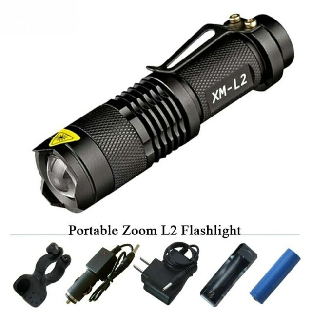 5 Modes Tactical Ledeak T6 Upgrade L2 LED Flashlight CREE 1200 Lumens Torch