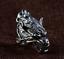 Sólido 925 plata esterlina gruñido detalle pesado enorme cabeza de Lobo Anillo de motociclista de cara