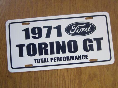1971 Ford TORINO GT Aluminum license Plate tag 351 Cobra 71 SCJ 429 Drag Pack