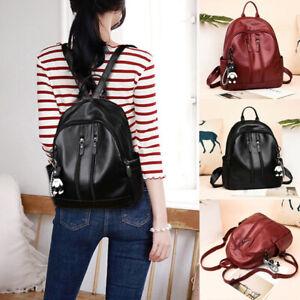 Women-Girls-Mini-Faux-Leather-Backpack-Rucksack-School-Bag-Travel-Handbag-New