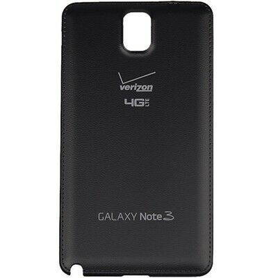 Samsung Galaxy Note 3 Verizon N900V Back Cover Battery Door Black Replacement