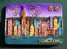 Hong Kong, China Reiseandenken Reise Souvenir 3D Polyresin Kühlschrankmagnet