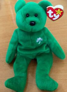 Ty Beanie Babies Erin Retired Mint With Tags - Rare With Errors  c4a6dd1b6300