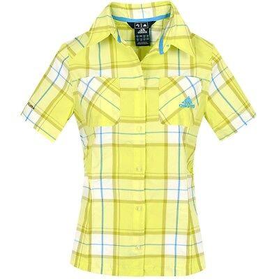 Sincero Adidas Ht Shirt W Da Donna Escursioni A Piedi Camicia Funzionale Trekking Camicia A Quadri Lime- Gamma Completa Di Articoli