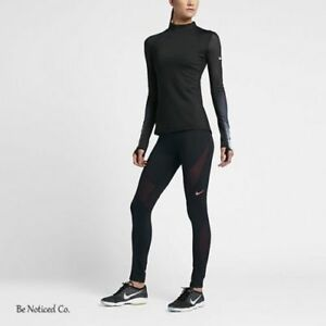 Rask Nike Pro Hyperwarm Women's Training Tights L Black Red Gym QN-76