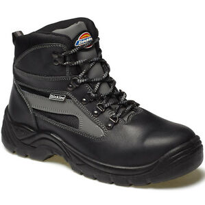 Para Hombre DICKIES Severn Botas De Trabajo Seguridad Negro Talla UK 12 Negro Cuero FA23500