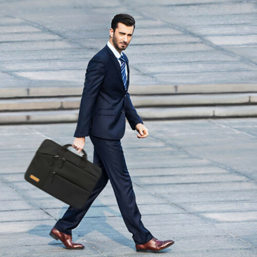"PREMIUM BUSINESS 15.6/"" LAPTOP BAG NOTEBOOK MACBook ALIENWARE CARRY CASE BLACK US"