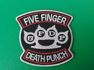 HEAVY-METAL-PUNK-ROCK-MUSIC-SEW-ON-IRON-ON-PATCH-FIVE-FINGER-DEATH-PUNCH-a