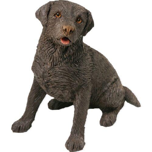 Sitting Sandicast Small Size Chocolate Labrador Retriever Sculpture SS013