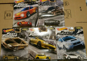 Hot-Wheels-Fast-amp-Furious-Fast-Tuners-Lot-5-N51