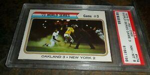 1974 OPC O-PEE CHEE #474 WORLD SERIES OAKLAND NEW YORK METS NM MINT PSA 8