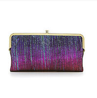 Hobo International Iridescent Stripe Leather Lauren Clutch Wallet