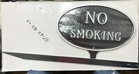 Montague Metal Products Sp-6s-bs-ls Black And Silver No Smoking Sign With Stake