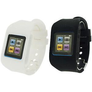 RUBZ White & Black Watch Band Strap Case Cover Apple iPod ...