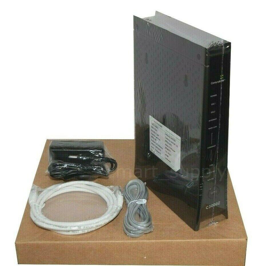 CenturyLink C3000Z Zyxel Bonded 2.4 & 5ghz Wireless WiFi Modem Router SEALED. Buy it now for 114.95