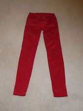 GIRL'S J BRAND GREAT RED SKINNY LEG JEGGING CORDUROY STRETCH JEANS SIZE 10