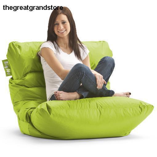 Merveilleux Bean Bag Chair Spicy Lime Big Joe Roma Dorm Room Gaming Chairs Microfiber  Sack | EBay